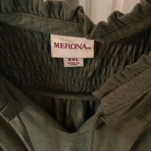 Merona Dresses - Green Sleeveless Knit Dress